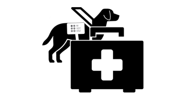 kép: vakvezető kutya egészségügyi alap ikon