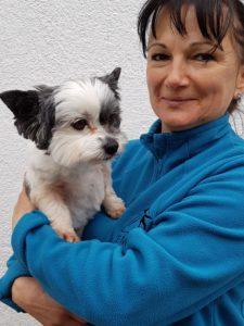kép: Hatala Éva és kutyája Dani