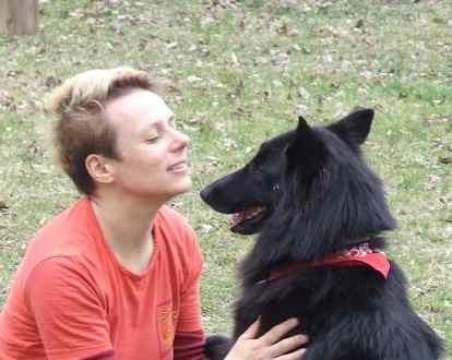 kép:Németh Ágnes és kutyája Dorisz